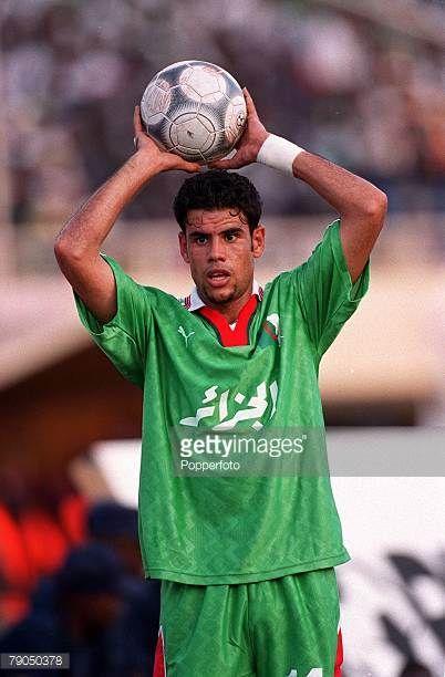 Football 2002 World Cup Qualifier African Second Round Group C 21st April 2001 Dakar Senegal Senegal 3 v Algeria 0 Algeria's Hocine Bouaicha prepares...