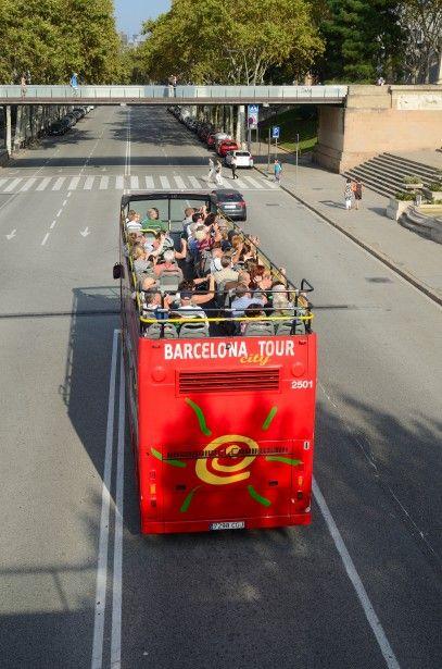 Tourist Bus In Barcelona