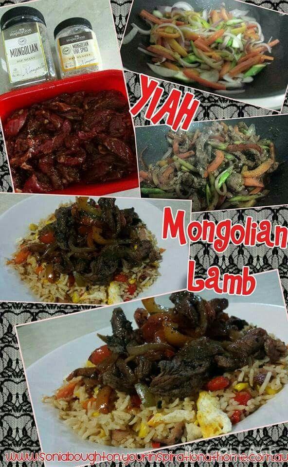 Mongolian Lamb Stir Fry served with Nasi Goreng Fried Rice