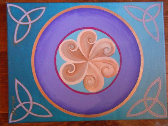 Mandala origine celtique par ForestElvenCreations sur Etsy, £80.00