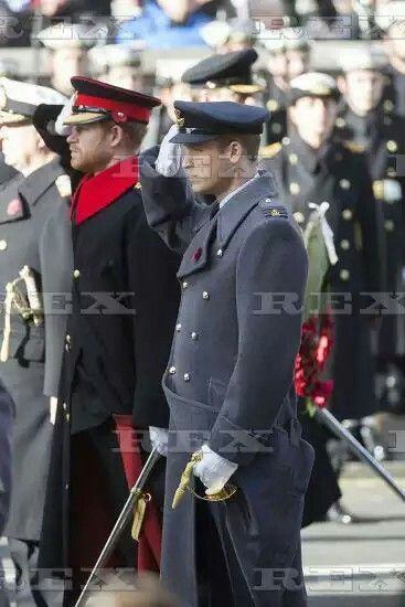 Remembrance Service, The Cenotaph, London, UK - 13 Nov 2016 Prince Harry and Prince William at the Remembrance Sunday Service at the Cenotaph. 13 Nov 2016