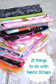 DIY::25 Projects Things to do With Fabric Scraps ! Who doesn't have those ? by @Amber Price