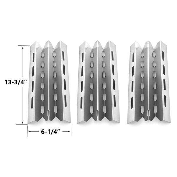 3 PACK STAINLESS STEEL HEAT PLATE REPLACEMENT FOR HUNTINGTON, BROIL KING, BROIL-MATE AND STERLING GAS GRILL MODELS  Fits Huntington Models : 6666-54  BUY NOW @ http://grillrepairparts.com/shop/grill-parts/3-pack-stainless-steel-heat-plate-replacement-for-select-broil-king-broil-mate-huntington-and-sterling-gas-grill-models/