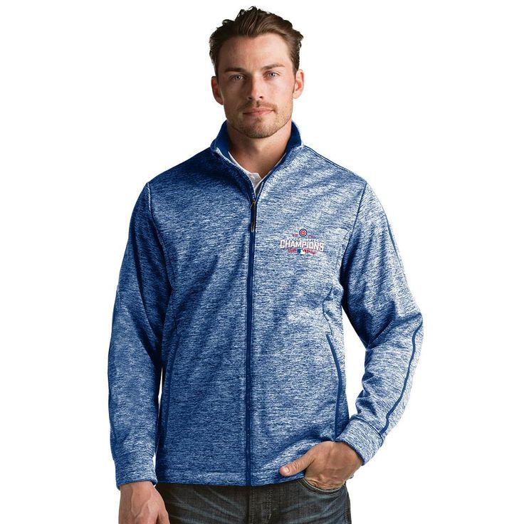 Men's Antigua Chicago Cubs 2016 World Series Champions Golf Jacket, Size: Small, Dark Blue