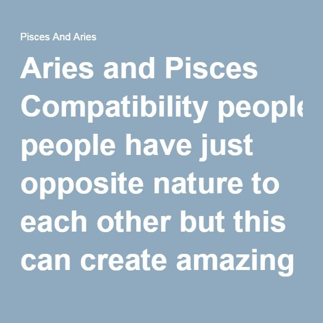 loke and aries relationship with pisces
