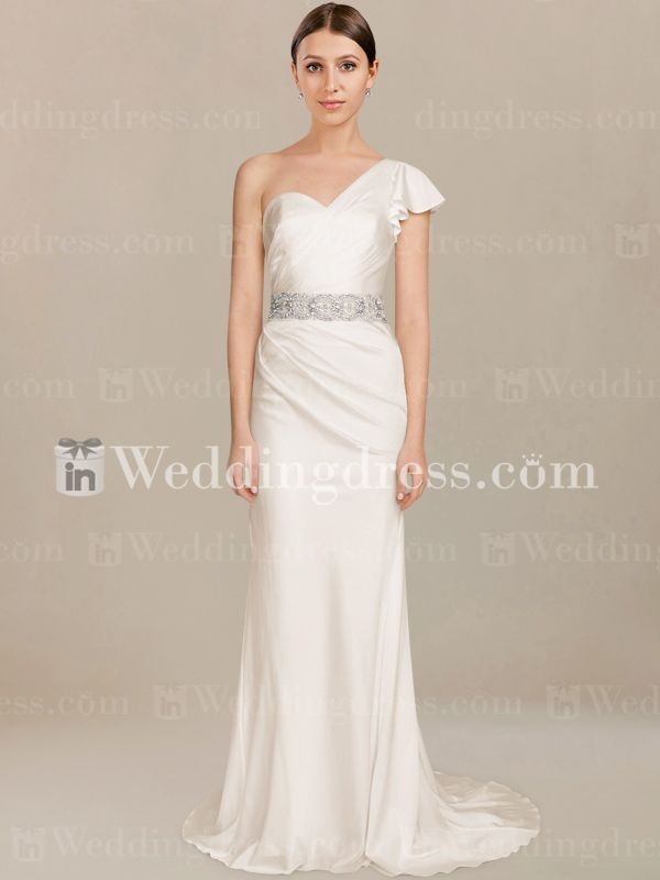Fabulous Buy informal one shoulder wedding dresses in online shop is a good way to save money