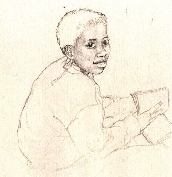 Pencil portrait sketch. For more information please visit - astridcastle.com
