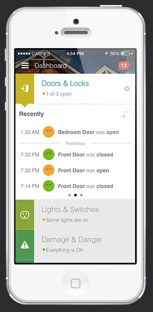iPhone of SmartThings App for home automation ios app
