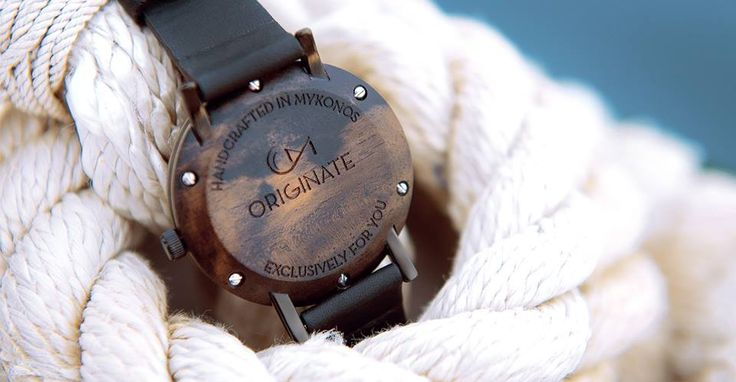 Exclusive wooden watches crafted entirely at hand by Originate Mykonos #woodenwatch #handcraftedwatch #originatemykonos