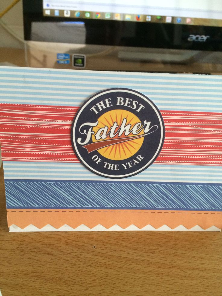 Handcrafted Fathers Day Card