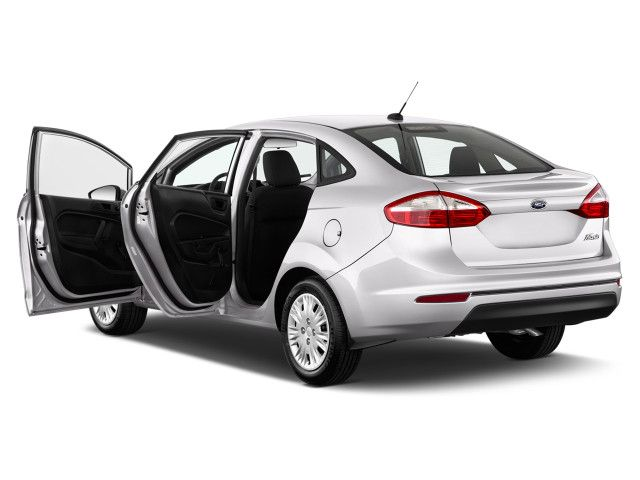 The 2015 Ford Fiesta includes a brand-new exterior color, modified seat fabric trim, new optional 16-inch alloy wheels for the Ford Fiesta 2015  SE models and the Ford SE appearance bundle, and a new much lower door stripe graphic bundle for all grades.