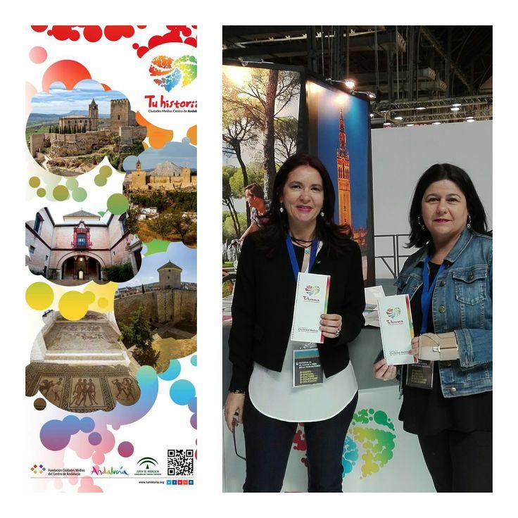 Reunión en #BTravel con la técnico de la #OficinadeTurismodeHuesca. Nuestras cartas de #experiencias #AlcalálaReal, #Antequera, #Écija, #Lucena y #PuenteGenil estarán en mayo en #Huesca #TuhistoriaenBTravel
