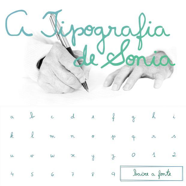 A escrita de Sonia Cascino, portadora da doença de Parkinson, foi transformada em uma fonte tipográfica. Baixe grátis;