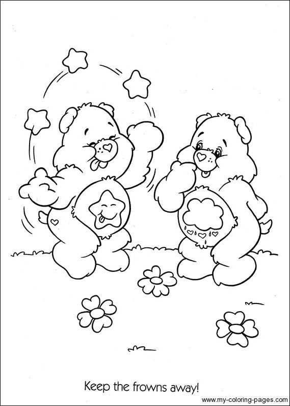 grumpy care bears coloring pages - photo#31