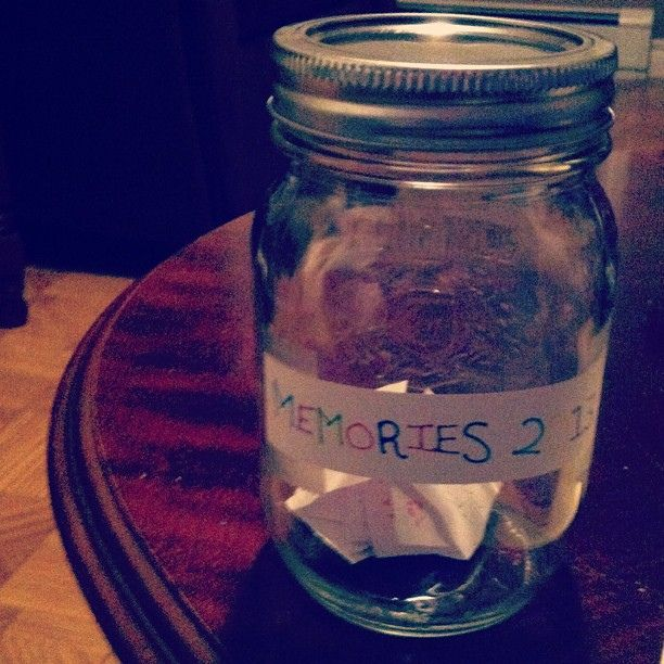 https://flic.kr/p/e5THwY | Started one of these the other day.  #masonjar #memories #2013 #memory #jar #piecesofpaper #instagood #igers #instadaily #l4l #f4f