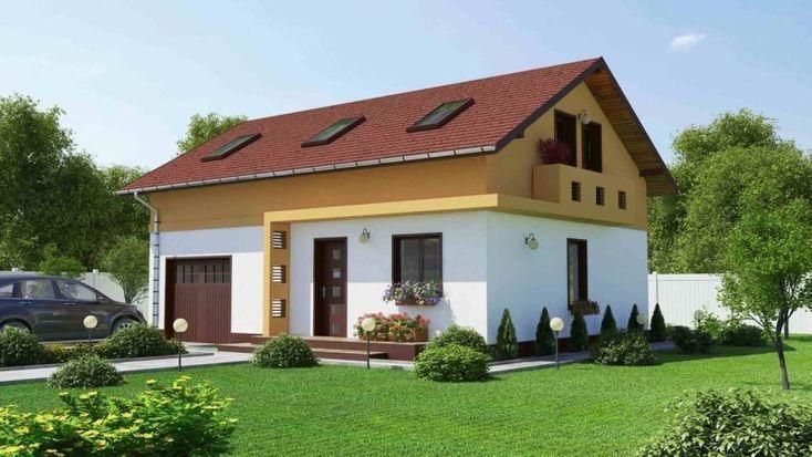 Case mici, cu garaj integrat - contraste frumoase la exterior