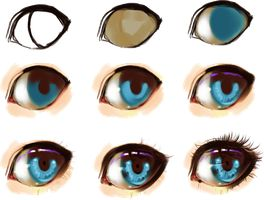 eye step by step by ryky