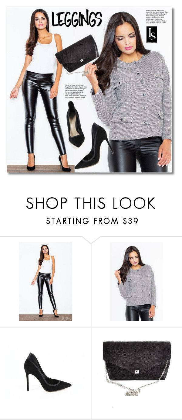 """Leggings"" by svijetlana ❤ liked on Polyvore featuring Gianvito Rossi, Leather, Leggings, polyvoreeditorial and lookshop"