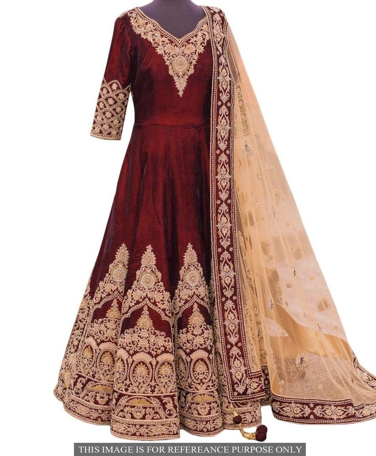 #Indian #Ethnic Embroidered #Bridal #DesignerAnarkaliDress Wedding Anarkali Suit  #designeranarkalisuit #Handmade #AnarkaliDress #AnarkaliSuit #PartyWeardress #weddingdress #weddinganarkalisuit