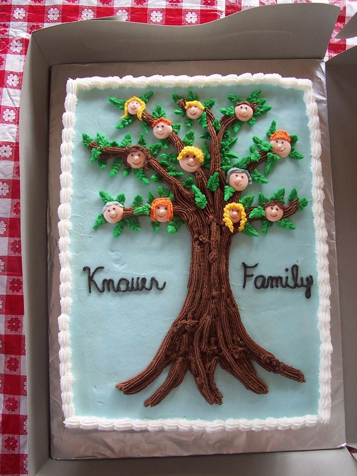 Family Reunion - I made this cake for a family reunion.  BC and royal icing faces and hair!