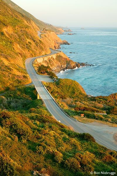 Highway 1, Big Sur, California (especially fun to drive in a sports car)