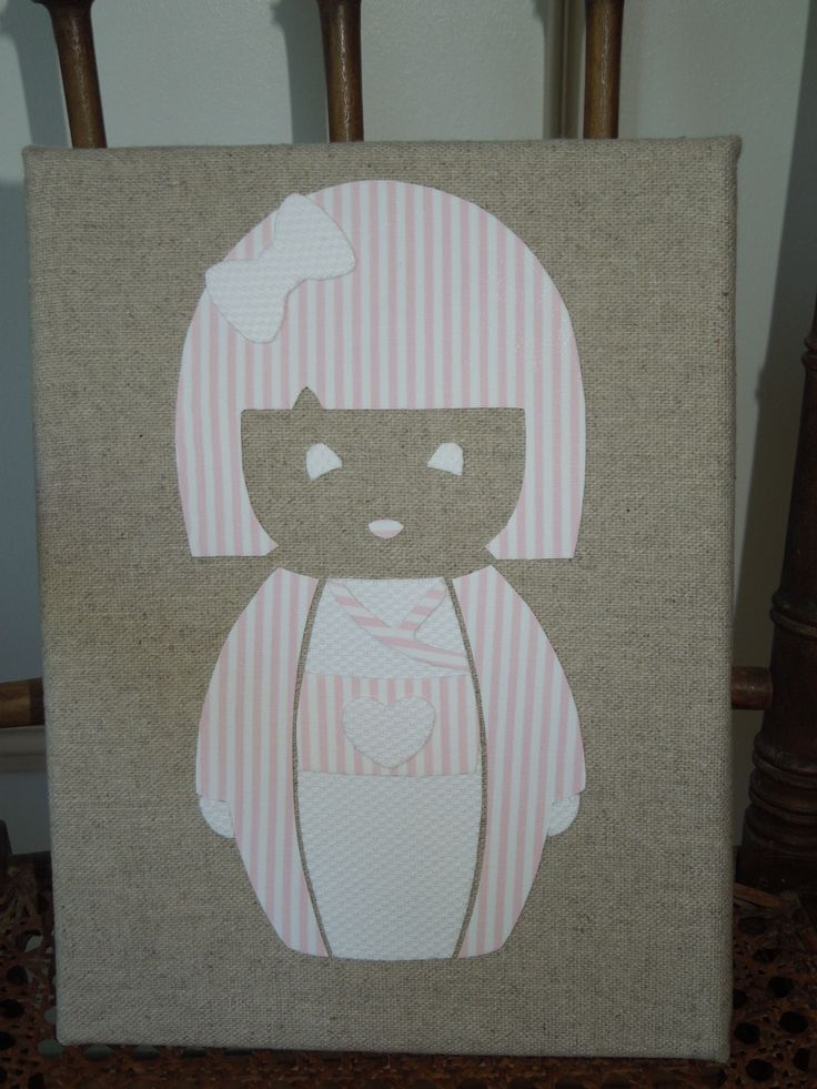 Idee Deco Chambre Garcon 8 Ans : Cadre Poupée japonaise rose  blanc  Chambre denfant, de bébé par