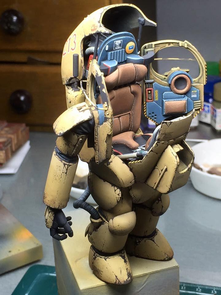 1:20 sci-fi scale model, Maschinen Krieger, by Ki-Yeol Yoon. Pinned by #relicmodels
