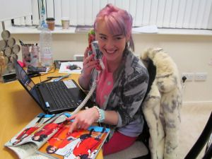 Louise Rawlins, one of Dublin's fresh, colorful designers in her shop at #Powerscourt. Worth a click: loulousrawworld.com