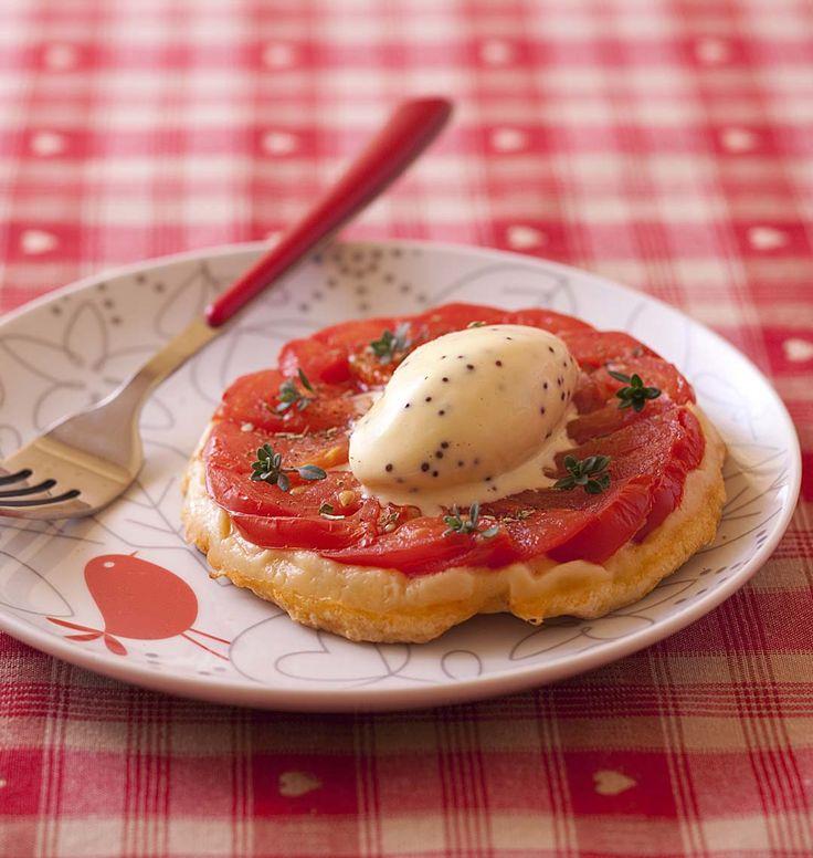 Tatin de tomates, glace à la moutarde, la recette d'Ôdélices : retrouvez les ingrédients, la préparation, des recettes similaires et des photos qui donnent envie !