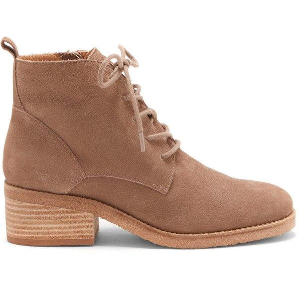 Lucky Brand Tamela Lace Up Bootie (455 BRL) ❤ liked on Polyvore featuring shoes, boots, ankle booties, brindle, lace-up bootie, lace-up ankle boots, laced up boots, lucky brand booties and lace-up booties