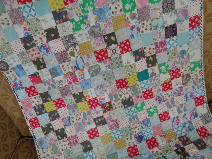 Vintage Baby Quilt, Crib Quilt by FairchildsInc on Etsy