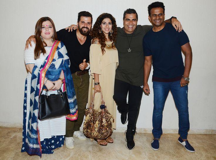 Delnaaz Irani, Bhakhtyar M Irani, Tanaaz Irani, Shailendra Singh and Siddharth Kannan 2 at writer-director Shailendra Singh's Drinks, Drama Aur Dhokha short film launch