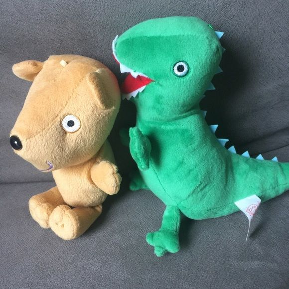 Pep pig teddy and George Dino 2 pieces Brand new, 2 plush : Dino and teddy Accessories