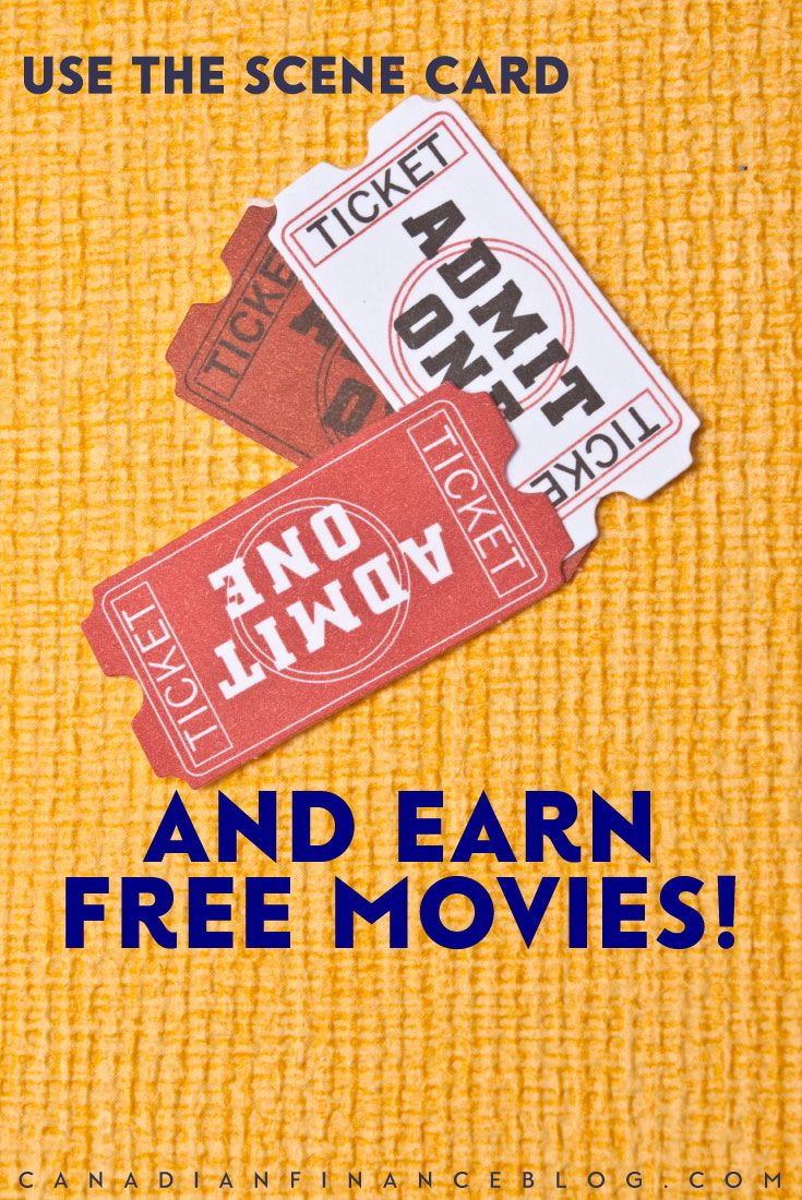 You can use the Scene card and earn free movies and other perks. The Scene points program rewards those who frequent Cineplex and have the Scene card.