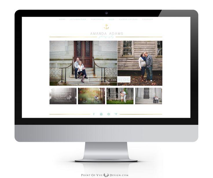 Amanda Adams Photography {Custom Logo and Prophoto Blogsite Design}