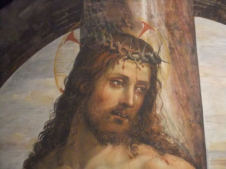 Содома. Христос у колонны (деталь). ок. 1514 г. Сиена, Пинакотека.