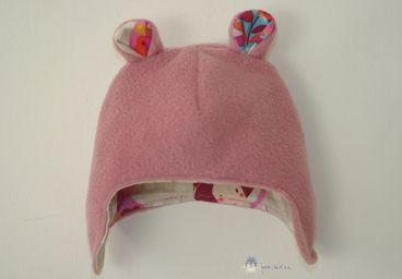 Bonnet à Oreilles en polaire couleur rose- Lien vers tuto