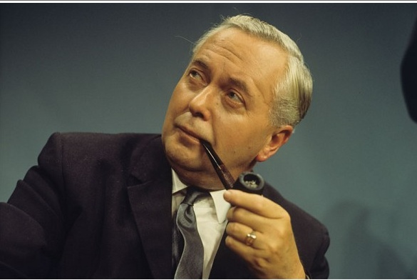 Harold Wilson with Pipe. Baron Wilson of Rievaulx, KG, OBE (1916–1995) – Labour politician and twice Prime Minister of the United Kingdom (from 1964 to 1970 and again from 1974 to 1976)