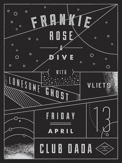 Aaron Eiland » Frankie Rose » DIVE | Lonesome Ghost | Club Dada #grafica #poster