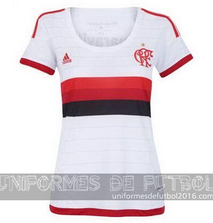Jersey visitante para uniformes de futbol para mujeres Flamengo 2016 | uniformes de futbol economicos