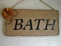 burlap bathroom decor - Yahoo Image Search Results