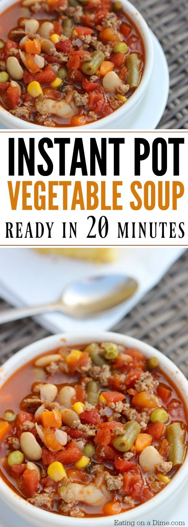Here Is An Easy Pressure Cooker Recipe Quick And Easy Instant Pot Beef Vegetable Soup