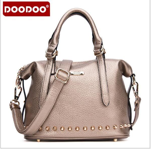 Original DOODOO Brand FR422 High Quality Leather Women Handbag Casual Large Capacity Hobos Bag Female Totes Shoulder Bag Bolsas