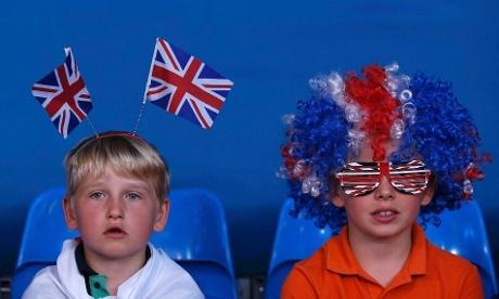 Not Little Doddsy but they are her cousins - watching the Olympic Judo!