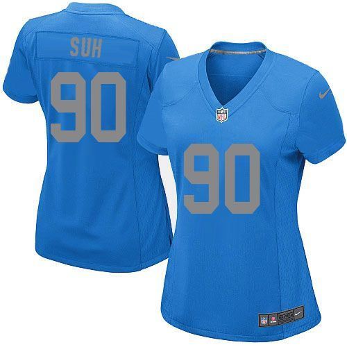Women Nike Detroit Lions #90 Ndamukong Suh Limited Blue Alternate NFL Jersey Sale