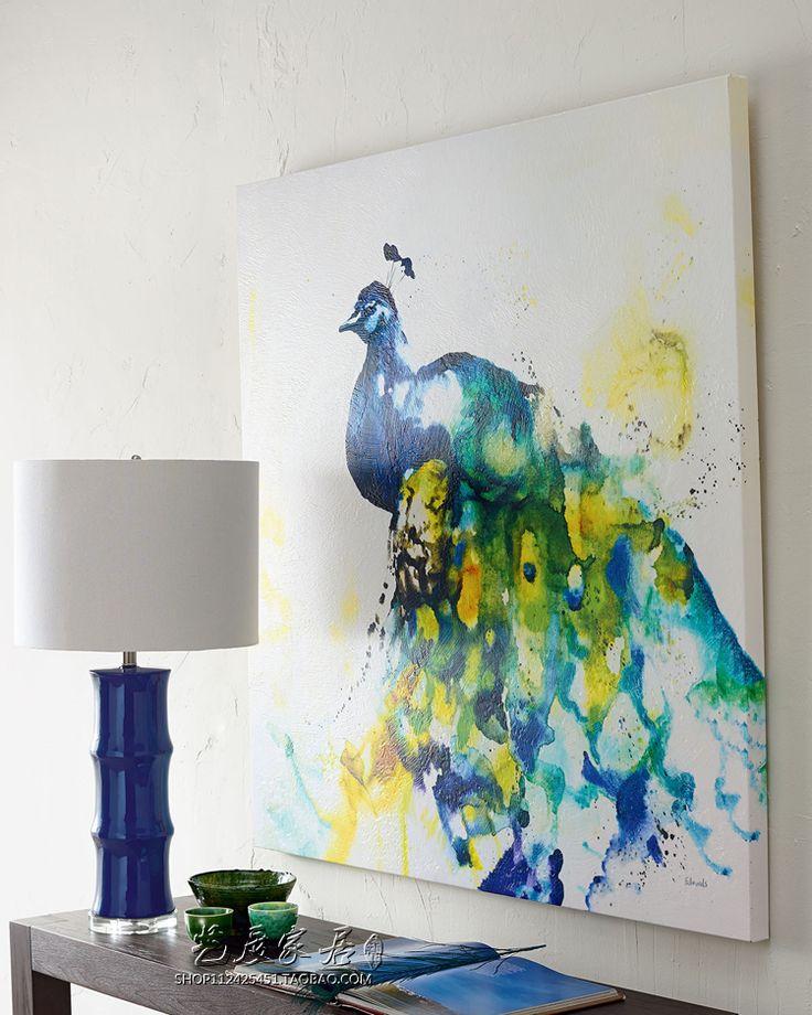 Американский синий керамическая настольная лампа классическая спальня прикроватные ресторан Китайский современный настольные лампы домашнего освещения ZA купить на AliExpress