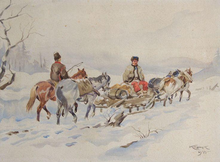 Karol Kossak: Huculi w drodze 1944