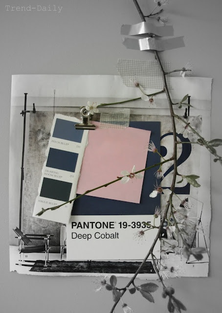 #pink and blue moodboards trend-daily.blogspot.com