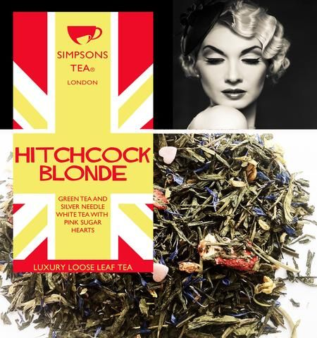 HITCHCOCK BLONDE | Sencha Green Tea and Silver Needle White Loose Leaf Tea | Simpsons Tea of London