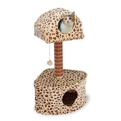 """Penn Plax CATF16 Bi-Level Lounge and Activity Center Dual Leopard Print. Bi Level Lounge and Activity Center From an Authorized Retailer (Free Shipping)                                                                   Description The Penn Plax Cat-Life Bi-Level Lounge & Activity Center comes in a dual leopard print. The attractive multi-level design is a purr-fect combination of style, quality and fun for any cat. Easy to assemble. Dimensions: 19"""" W x 22"""" D x 38"""" H  Payment Just in case you…"""